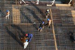 Zes bouwvakkers Royalty-vrije Stock Foto's