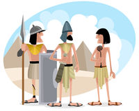 Zes Egyptenaren plaatsen vector illustratie