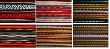 Zes embroideryes in één dossier 18mp Stock Afbeeldingen