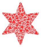 Zes-gericht Stermozaïek van Driehoeken stock illustratie