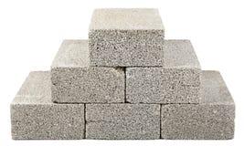 De bouw blokkeert Piramide Stock Afbeelding