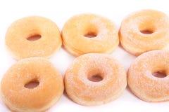 Zes heerlijke zoete donuts Stock Foto's