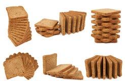 Zes hopen van brood Royalty-vrije Stock Afbeeldingen