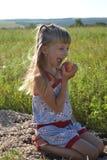 Zes-jaar-oud meisje Royalty-vrije Stock Afbeelding