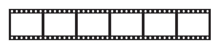 Zes kaders van 35 mm-filmstrook royalty-vrije illustratie