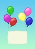 Zes kleurenballons Stock Foto's