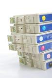 Zes kleurenInkjet printerpatroon royalty-vrije stock afbeelding