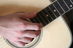 Zes-koord gitaar Stock Afbeelding