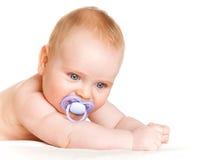 Zes-maand-oude baby Royalty-vrije Stock Foto's