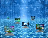 Zes monitors Stock Afbeelding