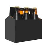 Zes Pak Flessen van het Bier royalty-vrije stock afbeelding