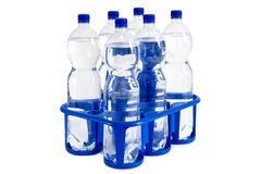 Zes-pak van soda Stock Foto