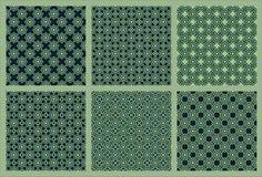 Zes Symmetrisch Patroon 1 stock illustratie