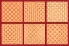 Zes Symmetrisch Patroon 3 vector illustratie