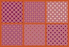 Zes Symmetrisch Patroon 5 stock illustratie