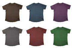 Zes t-shirts Royalty-vrije Stock Afbeeldingen