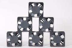 Zes ventilators Stock Foto's