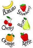 Zes vruchten Stock Afbeelding
