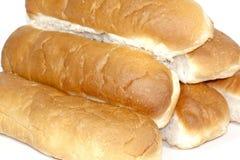 Zes Wit Kernachtig Oven Baked Bread Rolls royalty-vrije stock foto's