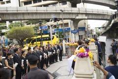 Zesdaags na bomexplosie in Ratchaprasong-Kruising op Au Royalty-vrije Stock Foto