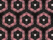 Zeshoeken geometrisch patroon Stock Fotografie