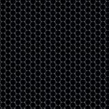 Zeshoekenpatroon - glasmateriaal op zwarte achtergrond Royalty-vrije Stock Afbeelding