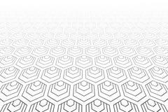 Zeshoekenpatroon Verminderend Perspectief vector illustratie