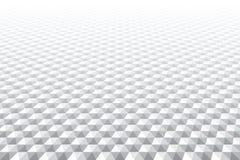 Zeshoekenpatroon Verminderend Perspectief Witte achtergrond royalty-vrije illustratie