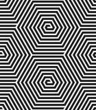 Zeshoekentextuur. Naadloos geometrisch patroon. Stock Afbeeldingen