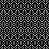 Zeshoekentextuur. Naadloos geometrisch patroon stock illustratie