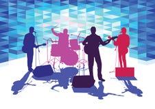 Zespół na scenie ilustracji