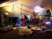 Zespół rockowy Roxotica bawić się przy Optimysstique 2017 Campout Obrazy Royalty Free