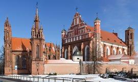Zespół St Anne i bernardynów kościół Obraz Stock