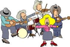 zespół kraju western royalty ilustracja