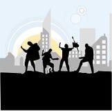 zespół rock. Zdjęcia Stock