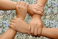 zespół ręce robota Fotografia Stock