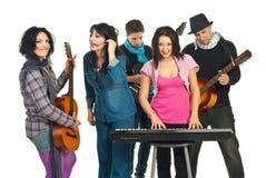 zespołów muzycy Zdjęcie Royalty Free