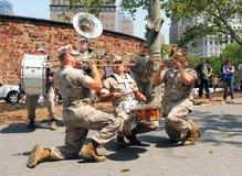 zespołu żołnierz piechoty morskiej Fotografia Stock