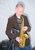 zespołu d jeziorny oxbow saxaphonist Zdjęcie Stock