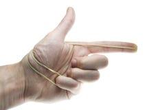 zespołu elastic pistoletu ręka Obrazy Stock