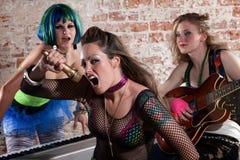 zespołu kobiety punk rock zdjęcie royalty free