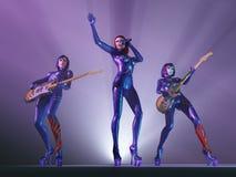 zespołu koncertowa kobiety skała Fotografia Stock