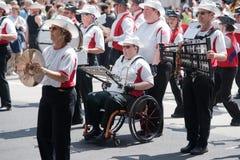 zespołu niepełnosprawny marszowy członek Zdjęcia Stock