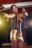 Zespołu rockowego spełnianie na scenie obrazy royalty free
