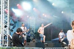 zespoły rockowe sylwetki muzyków ilustracyjnych sześć wektorów Zdjęcie Royalty Free