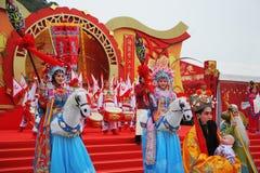 zespołu koncertowy dancingowy folklor Fotografia Royalty Free