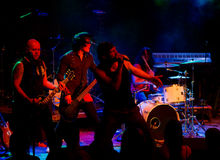 zespołu miasta darmozjadzie ciężki żyje metalu darmozjada obraz royalty free