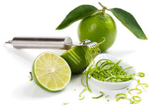 Zest of lime. Stock Photo