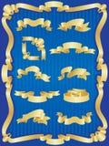 zestaw banner złota Obraz Royalty Free