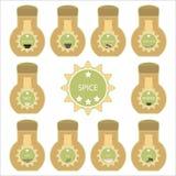 Zestaw condiment Zdjęcia Royalty Free